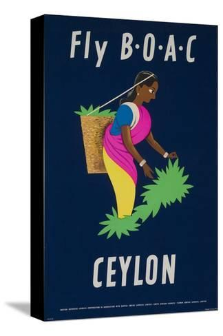 Fly Boac Ceylon Travel Poster--Stretched Canvas Print
