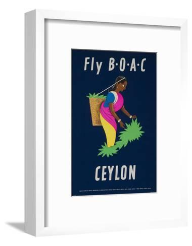 Fly Boac Ceylon Travel Poster--Framed Art Print