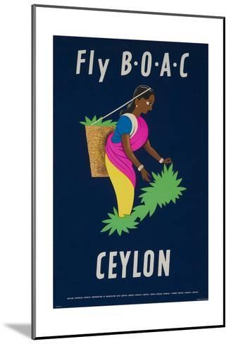 Fly Boac Ceylon Travel Poster--Mounted Giclee Print