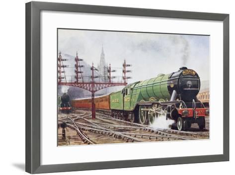 Flying Scotsman Steam Locomotive--Framed Art Print