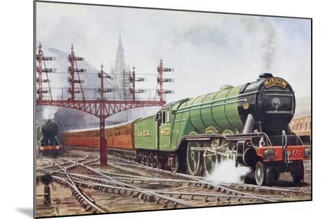 Flying Scotsman Steam Locomotive--Mounted Giclee Print