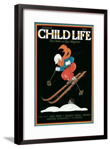 Magazine Cover, Child Life--Framed Art Print