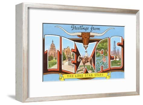 Greetings from Texas, the Lone Star State--Framed Art Print