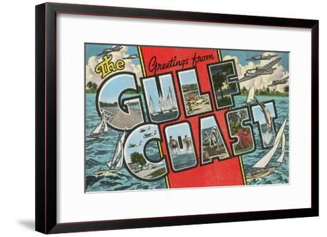 Greetings from the Gulf Coast, Florida--Framed Art Print