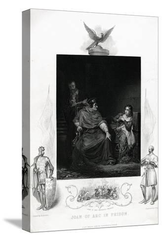 Joan of Arc in Prison Engraving from Shakespeare's Henry VI, Part I, Act V--Stretched Canvas Print