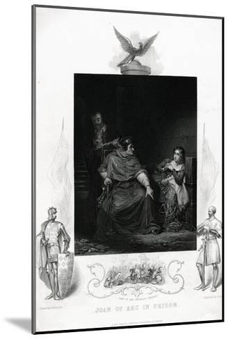 Joan of Arc in Prison Engraving from Shakespeare's Henry VI, Part I, Act V--Mounted Giclee Print