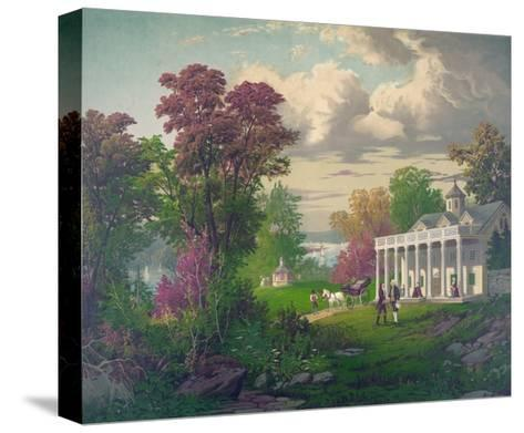 George Washington Arriving at Mount Vernon--Stretched Canvas Print