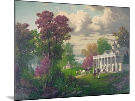 George Washington Arriving at Mount Vernon--Mounted Giclee Print