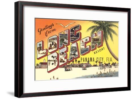 Greetings from Long Beach Resort, Panama City, Florida--Framed Art Print