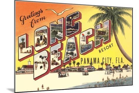 Greetings from Long Beach Resort, Panama City, Florida--Mounted Giclee Print