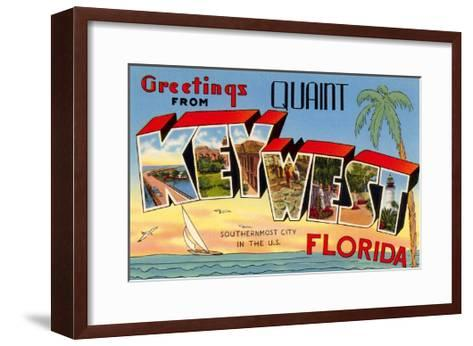 Greetings from Quaint Key West, Florida, the Southernmost City in the U.S.--Framed Art Print