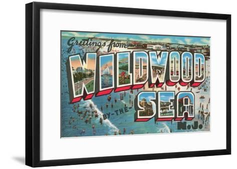 Greetings from Wildwood-By-The-Sea, New Jersey--Framed Art Print