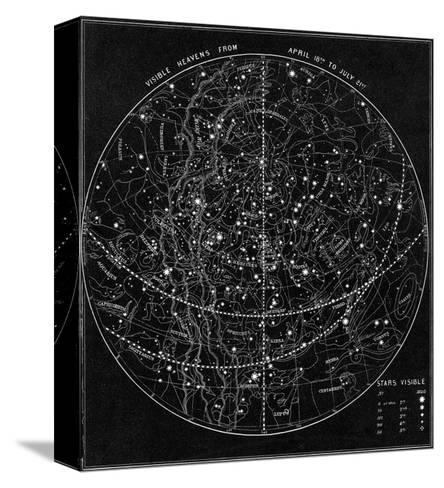 Illustration of the Constellations--Stretched Canvas Print