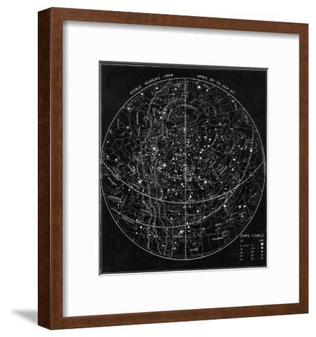 Illustration of the Constellations--Framed Art Print
