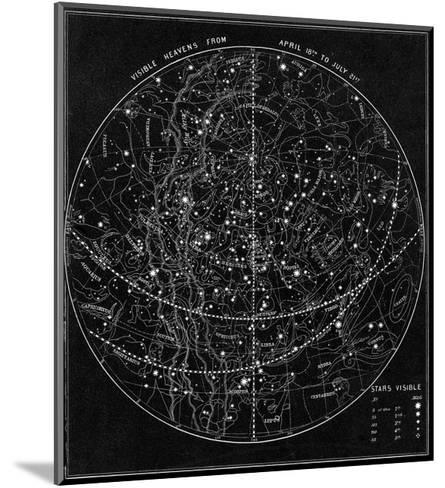 Illustration of the Constellations--Mounted Giclee Print