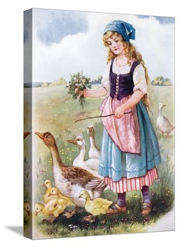 The Goose Girl--Stretched Canvas Print