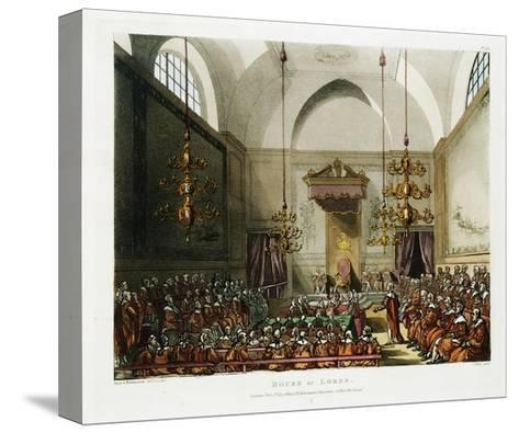 The House of Lords Color Print after Pugin and Rowlandson--Stretched Canvas Print