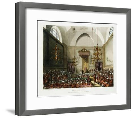 The House of Lords Color Print after Pugin and Rowlandson--Framed Art Print