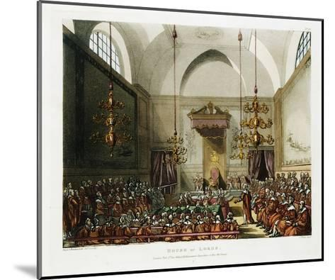 The House of Lords Color Print after Pugin and Rowlandson--Mounted Giclee Print