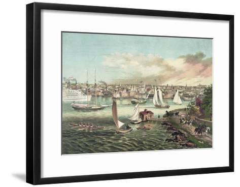 Newport Beach, Rhode Island--Framed Art Print