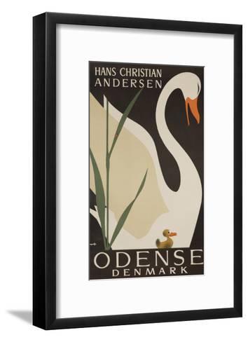 Odense Denmark Travel Poster, Hans Christian Andersen Ugly Duckling--Framed Art Print