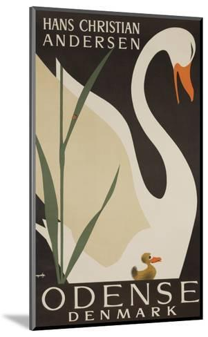 Odense Denmark Travel Poster, Hans Christian Andersen Ugly Duckling--Mounted Giclee Print