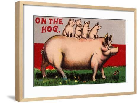On the Hog Postcard--Framed Art Print