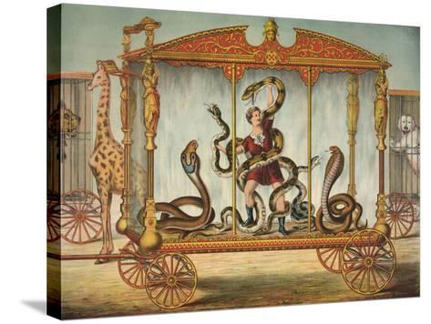 The Snake Wagon--Stretched Canvas Print