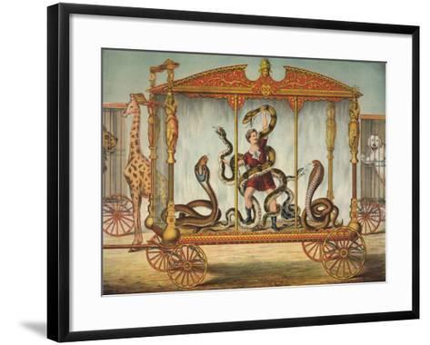 The Snake Wagon--Framed Art Print