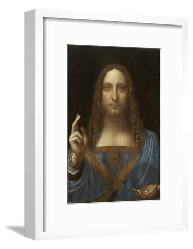 Salvator Mundi Attributed to Leonardo Da Vinci--Framed Art Print