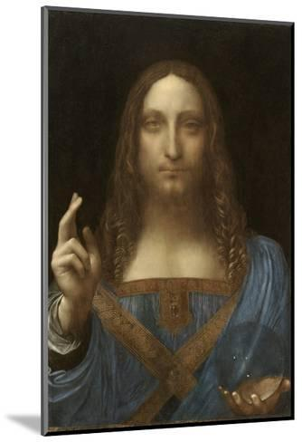Salvator Mundi Attributed to Leonardo Da Vinci--Mounted Giclee Print