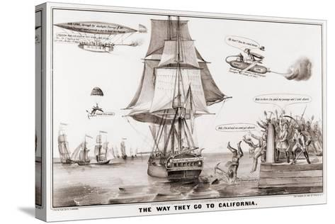 The Way They Go to California--Stretched Canvas Print