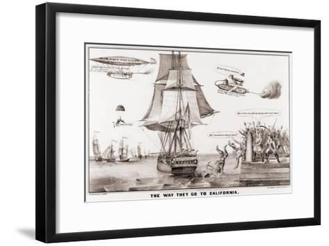 The Way They Go to California--Framed Art Print