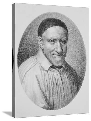 Portrait of Saint Vincent De Paul--Stretched Canvas Print