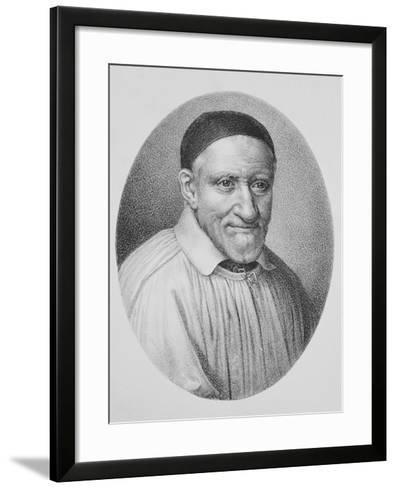 Portrait of Saint Vincent De Paul--Framed Art Print