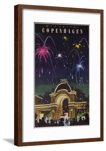 Wonderful Copenhagen, Tivoli Garden Travel Poster--Framed Art Print