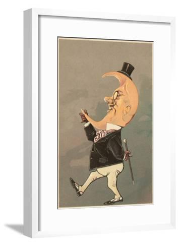 Postcard of the Cresent Moon as the Face of a Man--Framed Art Print
