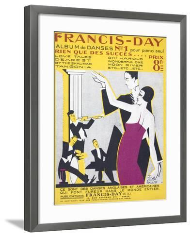 Sheet Music Album of American Dance Music--Framed Art Print