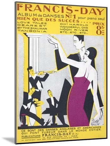 Sheet Music Album of American Dance Music--Mounted Giclee Print