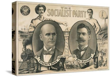 Poster for Socialist Presidential Ticket of 1904--Stretched Canvas Print