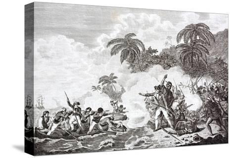 The Death of Captain James Cook, 1728 - 1779--Stretched Canvas Print