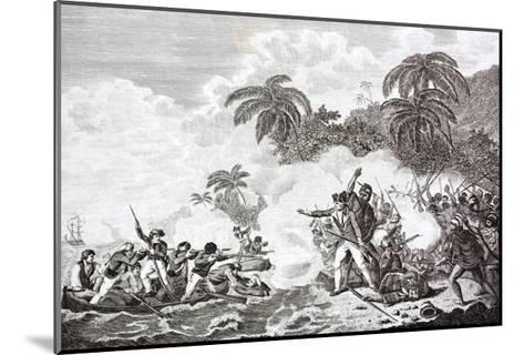 The Death of Captain James Cook, 1728 - 1779--Mounted Giclee Print