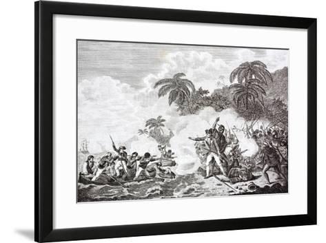 The Death of Captain James Cook, 1728 - 1779--Framed Art Print