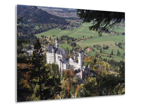 Neuschwanstein Castle, West of Fussen, Bavaria, Germany, Europe-Nigel Blythe-Metal Print