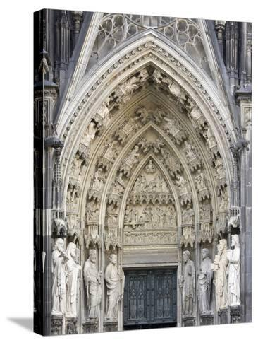 Gothic Nested Arches, Upper Part of Portal of Cologne Cathedral, North Rhine-Westphalia, Germany-Florian Monheim-Stretched Canvas Print