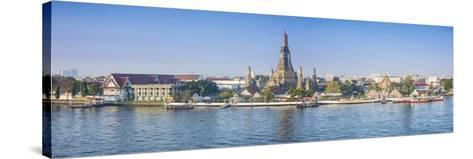 Temple of Dawn (Wat Arun) and Bangkok, Thailand-Jon Arnold-Stretched Canvas Print