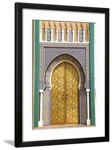 Royal Palace, Fez, Morocco, North Africa-Neil Farrin-Framed Art Print