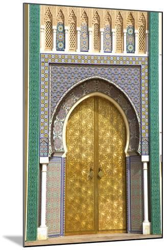 Royal Palace, Fez, Morocco, North Africa-Neil Farrin-Mounted Photographic Print