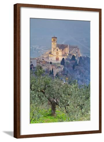 Italy, Umbria, Perugia District, Assisi, Basilica of San Francesco.-Francesco Iacobelli-Framed Art Print