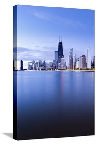 Usa, Illinois, Chicago, the Hancock Tower and Downtown Skyline from Lake Michigan-Gavin Hellier-Stretched Canvas Print